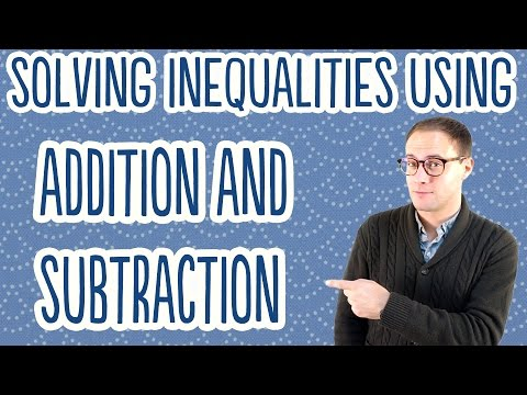 Solving Inequalities using Addition and Subtraction