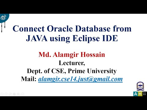 How to connect oracle database from java using Eclipse IDE
