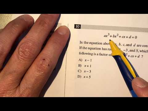 Math tutorial - SAT test preparation 01