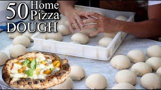 HOW TO MAKE 50 NEAPOLITAN PIZZAS⎮Full Dough Recipe With Poolish