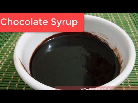 Chocolate Syrup Recipe in Hindi   चॉकलेट सिरप   Homemade chocolate syrup how to make chocolate syrup