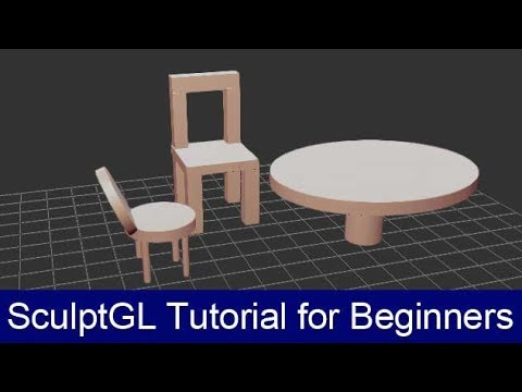 SculptGL Tutorial for beginners Part 1   How to create chairs and tables