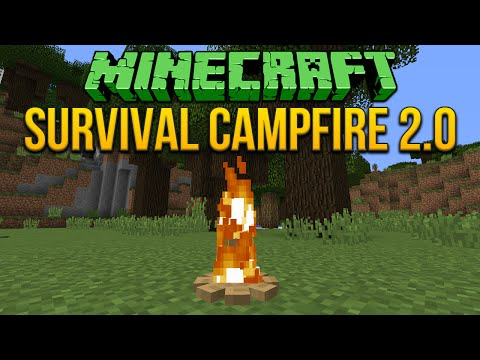Minecraft 1.8: Survival Campfire 2.0 (Fixed) Tutorial