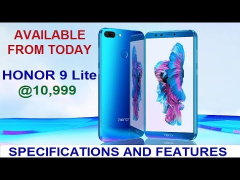 Honor 9 Lite Specifications and Features