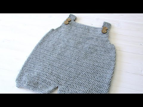 How to crochet baby / children's simple dungarees - the Robin dungarees / romper
