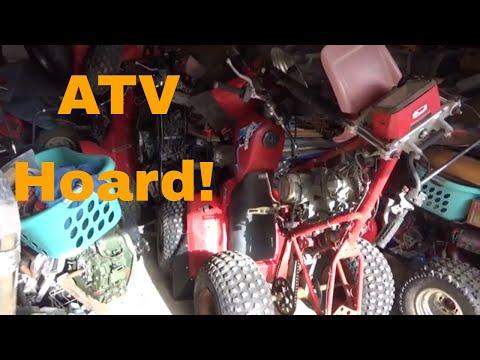 Extreme Honda ATV Storage, Standing ATCs to save space!