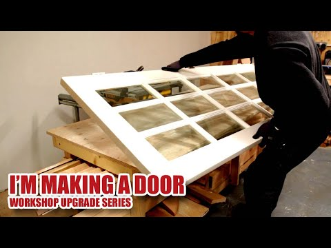 Making My Workshop MDF Door (from a reclaimed door) and Door Frame - Workshop v2.0 (Part 7) [39]