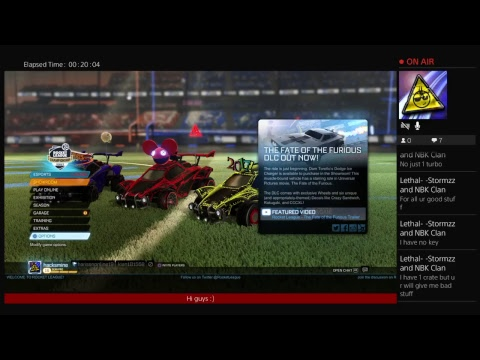 Rocket league with harisen and kian