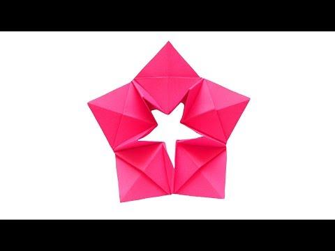 Звезда из бумаги ⭐Оригами Мастер класс