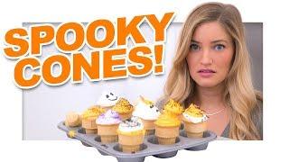 Halloween Cupcake Cones!