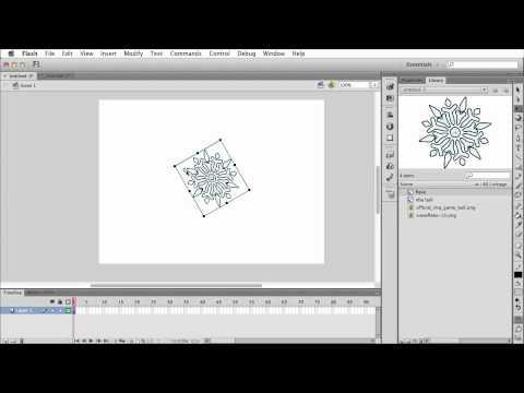Resize Rotate and skew Flash CS6
