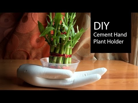 DIY Cement Plant Holder Tutorial | How To Make Plant Holders | Home Decor - Anushree's Craft TV