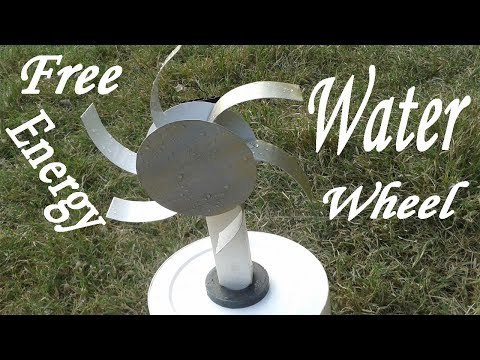 How to Make a Free Energy Water Wheel