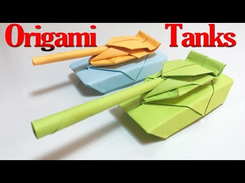 How to Make an Origami Tank Step by Step | Paper Tanks Tutorial | Origami VTL