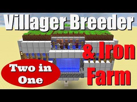 Combined Villager Breeder & Iron Farm