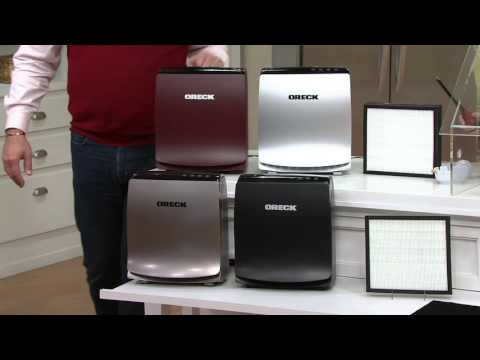 Oreck Airvantage HEPA Air Purifier with Carbon Odor Filter on QVC