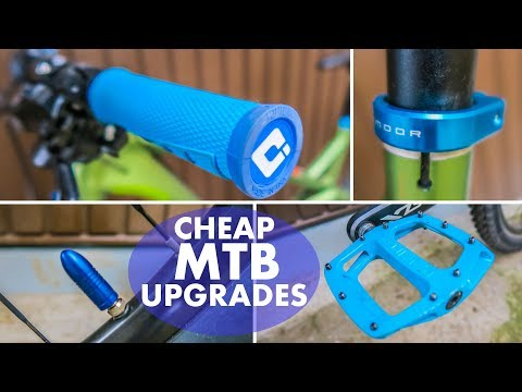 4 Ridiculously Cheap Mountain Bike Upgrades │MTB Upgrades│Tune Up Your Bike