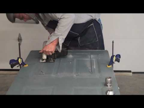 Step #3. Preparing the Rough Cut. How to Install a Pet Door Into a Raised Panel Door.