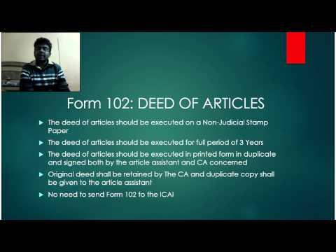 CA articleship registration procedure