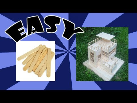 How to Make Modern House Popsicle Stick | Easy Modern House Popsicle Stick