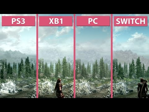 Skyrim – Switch vs. PS3 vs. Xbox One vs. PC Graphics Comparison