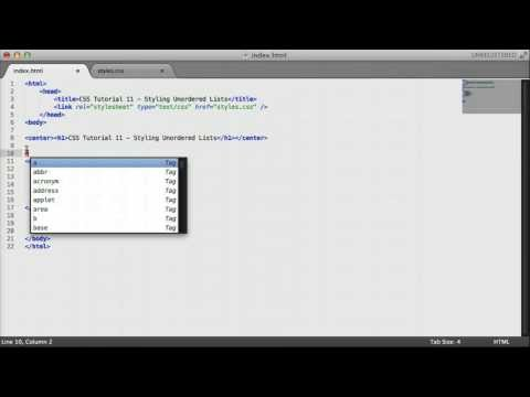 CSS Tutorial 11 - Styling Unordered Lists