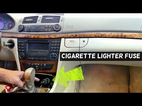 MERCEDES W211 CIGARETTE LIGHTER FUSE REPLACEMENT LOCATION