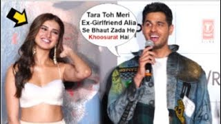 Tara Sutaria BLUSHES After Sidharth Malhotra Openly FLIRTS With Her At Marjaavaan Trailer Launch
