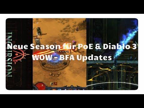 4FF: Neue Diablo 3 & PoE Season, BFA Updates