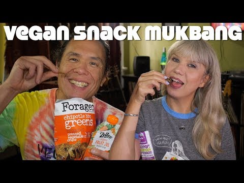 Vegan Snack Food Unboxing & Trying: Mukbang