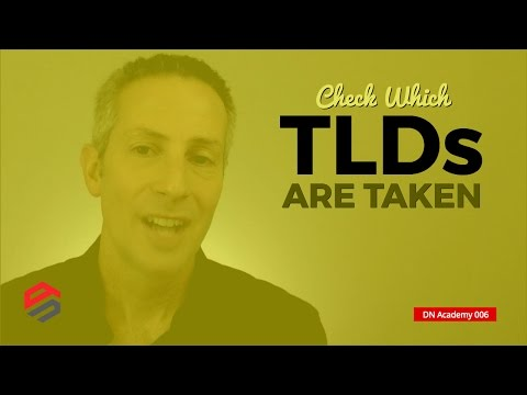 Check Which TLDs Are Taken