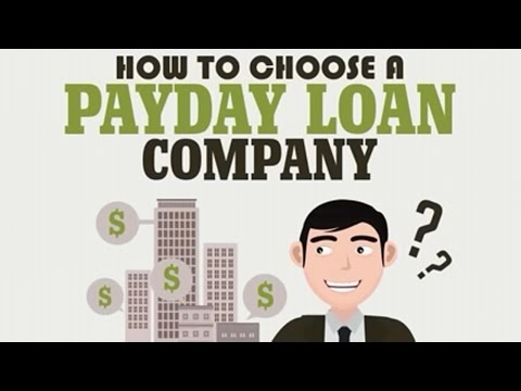 How To Choose A Payday Loan Company