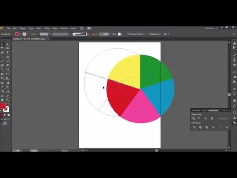 How to Divide a Circle into Equal Parts and make color wheel in Adobe Illustrator