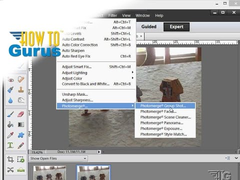 How to Blend Pictures with Photomerge in Adobe Photoshop Elements 15 14 13 12 11 Tutorial
