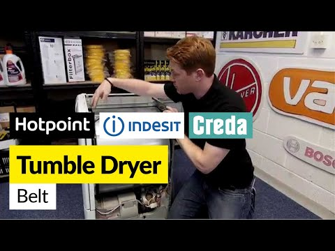 How to Replace a Condenser Tumble Dryer Belt (Hotpoint, Indesit or Creda)