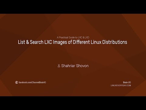 06. List & Search LXC Images of Different Linux Distributions
