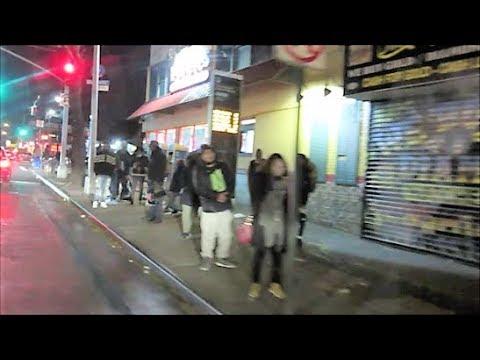 BROOKLYN NEW YORK STREETS AT NIGHT