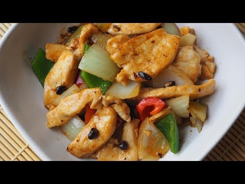 Chicken and Green Pepper with Black Bean Sauce Recipe