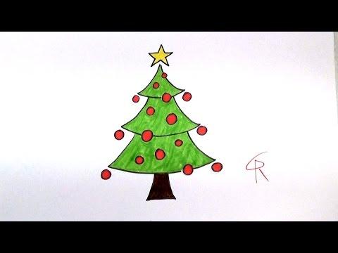 Learn How To Draw A Festive Cartoon Christmas Tree -- iCanHazDraw!