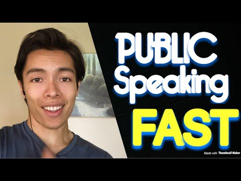 How To Be Better At Public Speaking FAST