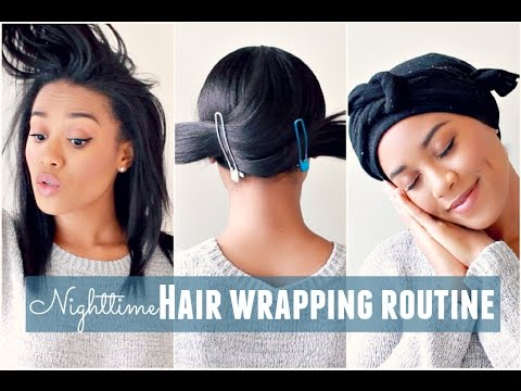 Nighttime Hair Wrapping Routine