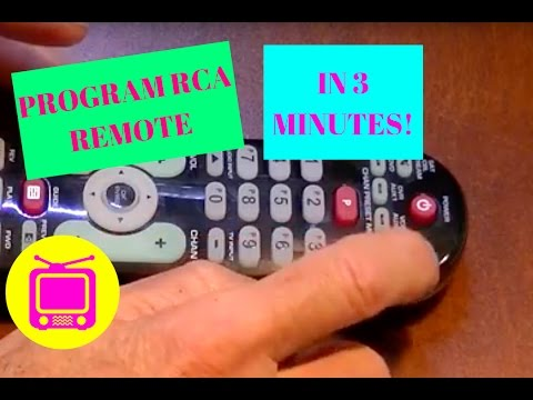 PROGRAM RCA UNIVERSAL REMOTE TO YOUR TV IN LESS THAN 3 MINUTES!!