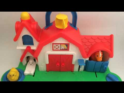 Fisher Price 1987 Farm Barn Animal Sound Activity Center Toy - #1005