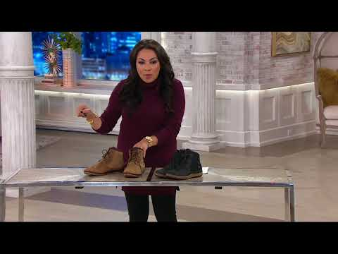 Merrell Leather Lace-up Ankle Boots - Ashland Vee Ankle on QVC