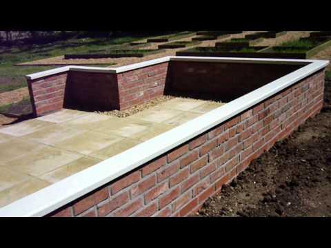 Large brick-built greenhouse base