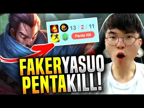 Faker Yasuo is Broken! Faker Solo 1vs5 Pentakill! - SKT T1 Faker Picks Yasuo Mid! | SKT T1 Replays