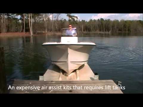 Glide-N-Ride video - Boat Lift - Jet dock - Drive on floating dock.