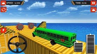 من المستحيل قيادة حافلة - منحدر الضخمة حيلة سباق - محاكي القيادة - العاب سيارات - ألعاب أندرويد