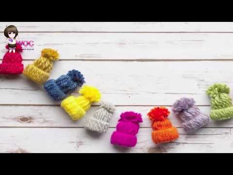How To Make Small Caps From Yarn | DIY | Woolen Thread Crafts