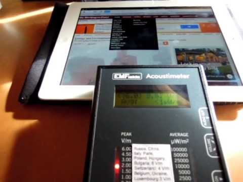 iPad WiFi Radiation with Wireless Router On (RF Meter with Sound) - NEW!